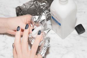 removal process of shellac nail polish
